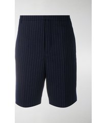 saint laurent pinstripe bermuda shorts
