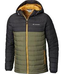 parka powder lite hooded jacket verde columbia
