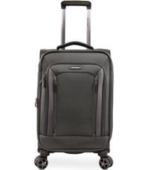 "brookstone elswood 21"" softside carry-on luggage with charging port"