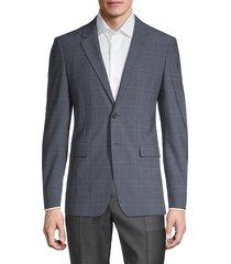 hudson standard-fit plaid jacket