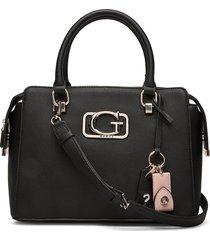 annarita girlfriend satchel bags top handle bags zwart guess