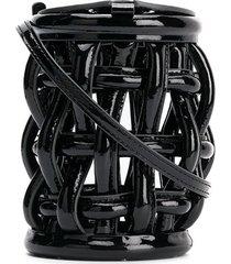 danse lente coco cage bucket bag - black
