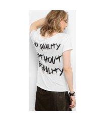 camiseta drezzup botonê equality feminina