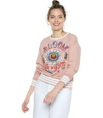 buzo rosa-multicolor esprit