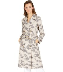 inc toile-print trench coat, created for macy's