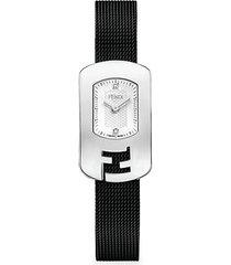 chameleon stainless steel & diamond bracelet watch