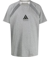 givenchy triangle logo t-shirt - grey