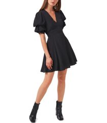1.state puff sleeve tiered short dress