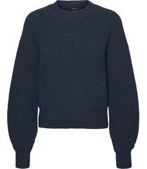 vmstella ls o-neck blouse ki knit