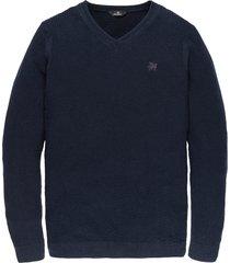 vanguard pullover katoen donkerblauw vkw197130-5287