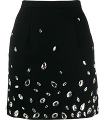 christopher kane crystal gem mini skirt - black