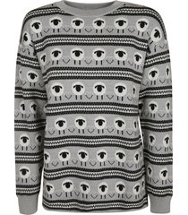 moschino all-over sheep printed sweater