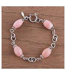 opal link bracelet, 'rose radiance' (peru)