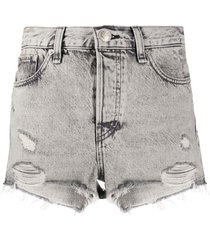 rag & bone distressed denim shorts - ashgrey
