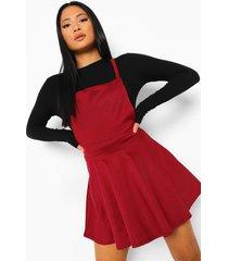 petite pinafore jurk met gekruiste rug, berry