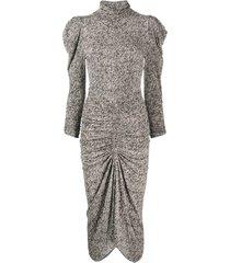 isabel marant abstract-print mid-length dress - black