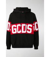 gcds logo drawstring hoodie