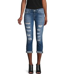 halle high-rise capri jeans