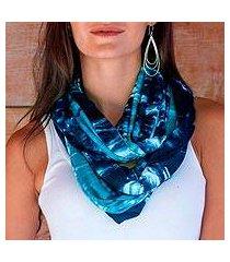 rayon infinity scarf, 'bali sky' (indonesia)