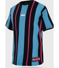 camiseta streetwear listrada prison long stripes blue and pink