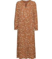 byhilda long dress - maxiklänning festklänning brun b.young