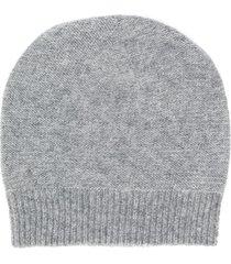 fabiana filippi fine knit beanie hat - grey
