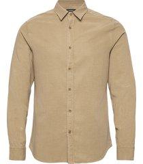 tencel slub texture slim shirt overhemd casual beige j. lindeberg