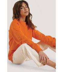 na-kd basic oversized crewneck sweatshirt - orange