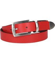 cinturón cuero rojo pollini
