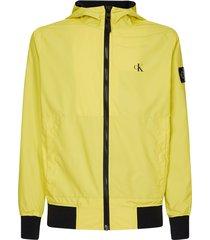 hooded blocking jacket