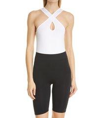 women's simon miller keao bodysuit, size x-small/small - white