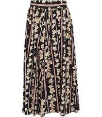 forte forte print cotton popline flared skirt
