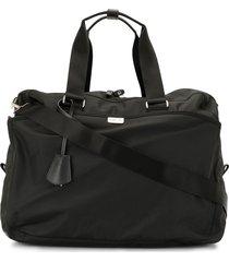 agnès b. double-pouch weekend bag - black