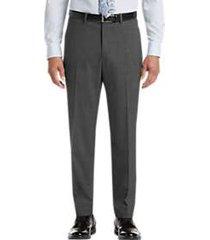 pronto uomo gray modern fit dress slacks