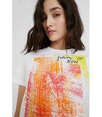 arty t-shirt 100% cotton - white - xl