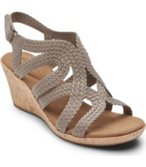 rockport women's briah braid strap sandal women's shoes
