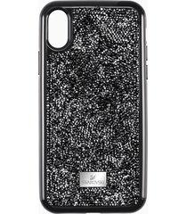 custodia per smartphone con bordi protettivi glam rock, iphoneâ® xr, nero