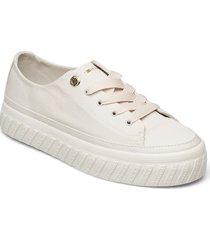 shiny flatform vulc sneaker sneakers skor vit tommy hilfiger