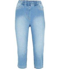 jeans capri elasticizzati skinny con cinta comoda (blu) - bpc bonprix collection