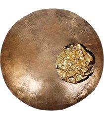 objeto decorativo- pashmina- objeto decorativo- dourado - dourado - dafiti