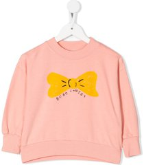 bobo choses bow print sweatshirt - pink