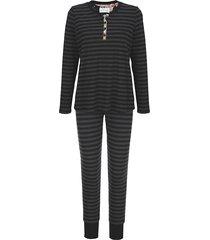 pyjama ringella bloomy zwart::antraciet