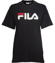 unisex classic pure ss tee t-shirts short-sleeved svart fila