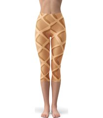 icecream waffle cone fleece capri leggings