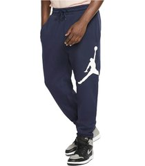 pantalón largo de hombre m j jumpman logo flc pant nike azul