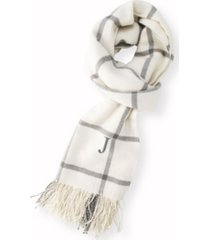 cathy's concepts personalized windowpane blanket scarf