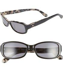kate spade new york paxton2 53mm polarized sunglasses in black havana polarized at nordstrom