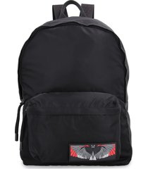 marcelo burlon logo detail nylon backpack
