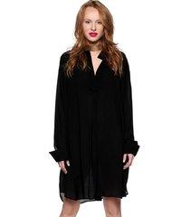 koszulo-sukienka oversize czarna