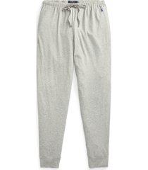 men's polo ralph lauren knit jogger pajama pants, size medium - grey